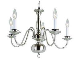 Trans Globe Lighting Mission Indoor Brushed Nickel Five-Light 22 Wide Mini Chandelier