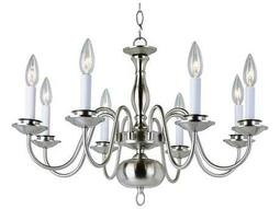 Trans Globe Lighting Mission Indoor Brushed Nickel Eight-Light 25 Wide Chandelier