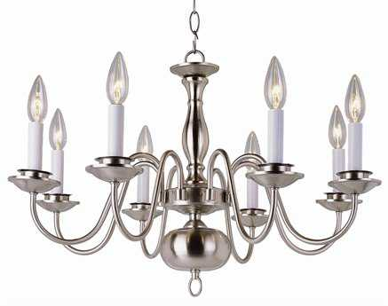 Trans Globe Lighting Mission Indoor Polished Brass Eight-Light 25 Wide Chandelier