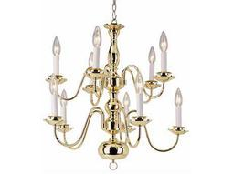 Trans Globe Lighting Mission Indoor Brushed Nickel Ten-Light 22 Wide Chandelier
