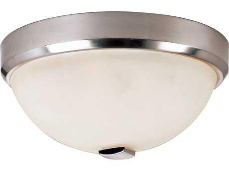 Trans Globe Lighting Contemporary Indoor Brushed Nickel Three-Light Flush Mount Light
