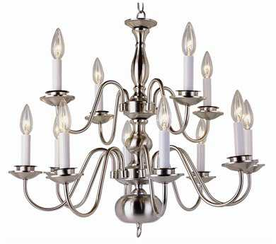 Trans Globe Lighting Mission Indoor Polished Brass 12-Light 26 Wide Chandelier