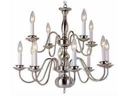 Trans Globe Lighting Mission Indoor Polished Brass 12-Light 26 Wide Chandelier