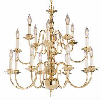 Trans Globe Lighting Mission Indoor Brushed Nickel 16-Light 26 Wide Chandelier