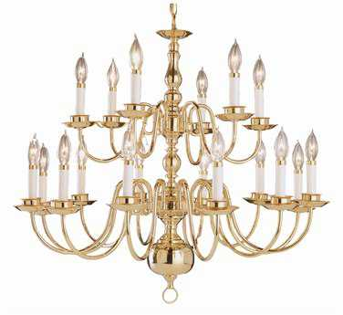Trans Globe Lighting Mission Indoor Brushed Nickel 18-Light 32 Wide Chandelier