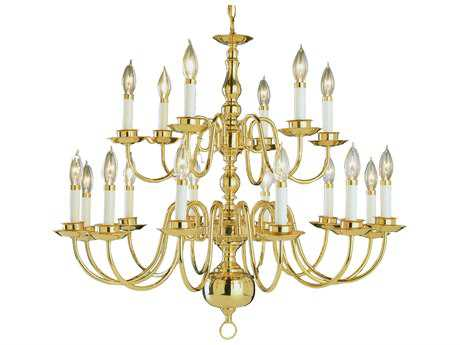 Trans Globe Lighting Mission Indoor Polished Brass 18-Light 32 Wide Chandelier