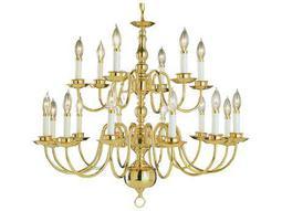 Trans Globe Lighting Mission Indoor Polished Brass 18-Light 32 Wide Chandelier