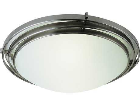 Trans Globe Lighting Game Rooms, Dorms & Kids Brushed Nickel Flush Mount Light