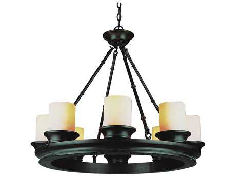 Trans Globe Lighting Rustic Lodge Oil Rubbed Bronze Eight-Light 29 Wide Chandelier