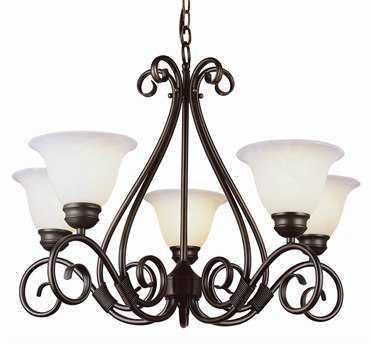 Trans Globe Lighting French Country Pewter Five-Light 29 Wide Chandelier