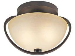 Trans Globe Lighting Mid-Century Antique Bronze Flush Mount Light