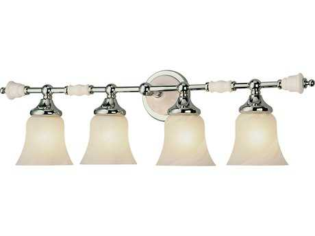 Trans Globe Lighting Mission Indoor Polished Chrome Four-Light Vanity Light