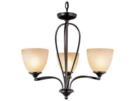 Trans Globe Lighting Mid-Century Oil Rubbed Bronze Three-Light 21 Wide Chandelier