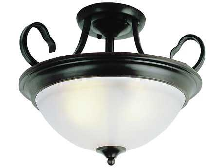 Trans Globe Lighting New Victorian Oil Rubbed Bronze Three-Light Semi-Flush Mount Light