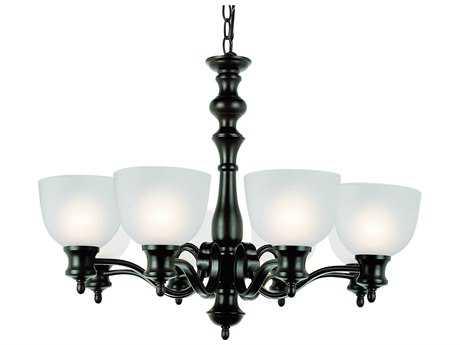 Trans Globe Lighting New Victorian Oil Rubbed Bronze Eight-Light 28 Wide Chandelier