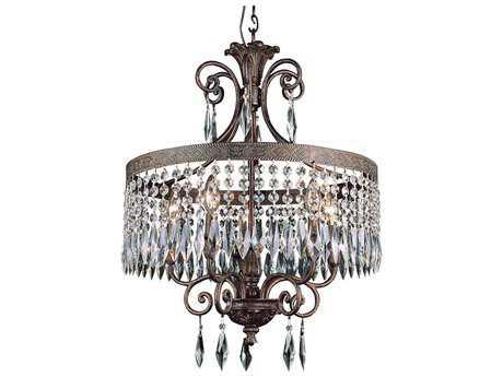 Trans Globe Lighting Eclectic Boutique Dark Bronze With Gold Five-Light 20 Wide Chandelier