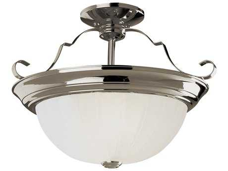 Trans Globe Lighting Remodel Projects Brushed Nickel Two-Light Semi-Flush Mount Light
