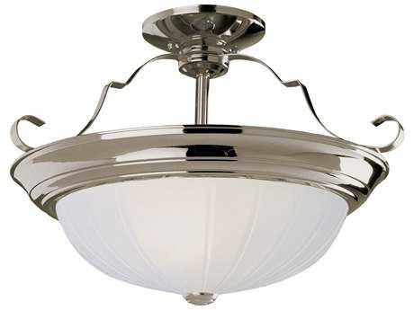 Trans Globe Lighting Remodel Projects Brushed Nickel Three-Light Semi-Flush Mount Light