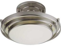 Trans Globe Lighting Contemporary Indoor White Two-Light Semi-Flush Mount Light