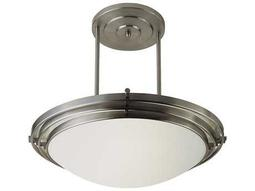 Trans Globe Lighting Contemporary Indoor Brushed Nickel Three-Light Semi-Flush Mount Light