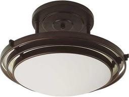 Trans Globe Lighting Contemporary Indoor Oil Rubbed Bronze Three-Light Semi-Flush Mount Light
