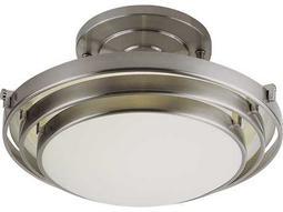 Trans Globe Lighting Contemporary Indoor Brushed Nickel Two-Light Semi-Flush Mount Light