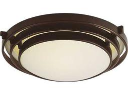 Trans Globe Lighting Contemporary Indoor Oil Rubbed Bronze Two-Light Flush Mount Light