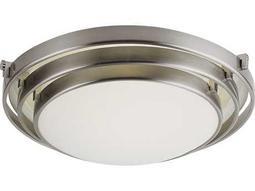 Trans Globe Lighting Contemporary Indoor Brushed Nickel Two-Light Flush Mount Light