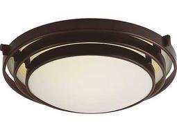 Trans Globe Lighting Contemporary Indoor Oil Rubbed Bronze Three-Light Flush Mount Light