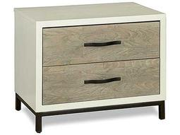 Universal Furniture Spencer 27''L x 18''W Rectangular Gray & Parchment Nightstand