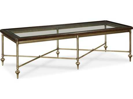 Universal Furniture Proximity 68''L x 28''W Rectangular Sumatra Cocktail Table with Glass