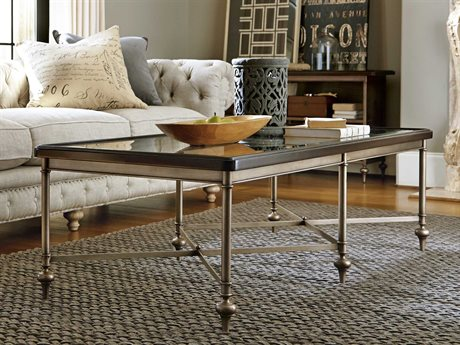 Universal Furniture Proximity 68''L x 28''W Rectangular Sumatra Cocktail Table with Glass