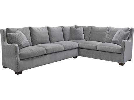 Universal Furniture Curated Grey Cloud Connor Sectional Left Arm Sofa Right Arm Corner