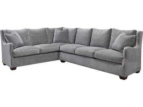 Universal Furniture Curated Grey Cloud Connor Sectional Right Arm Sofa Left Arm Corner