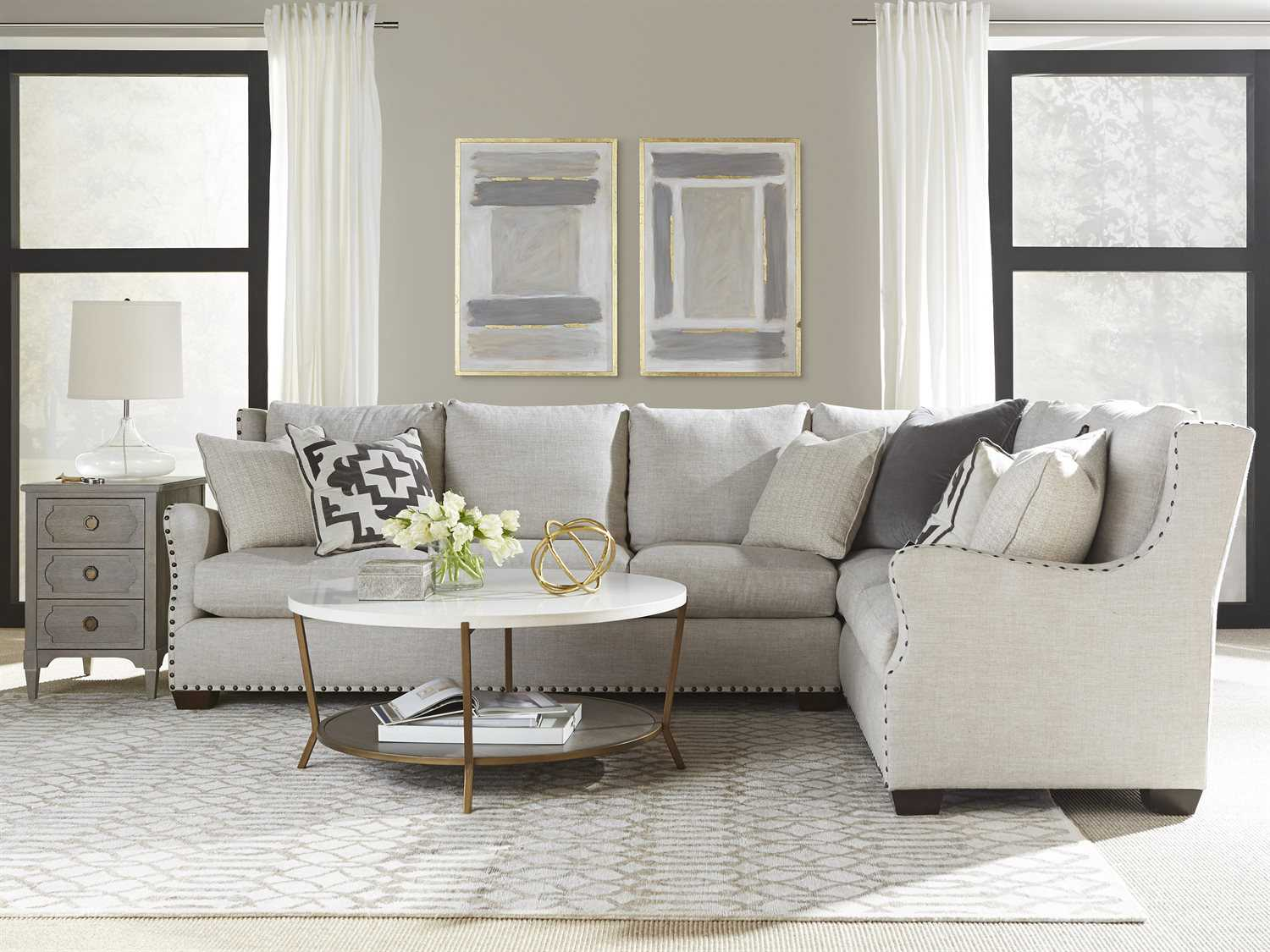 Universal furniture connor sectional right arm facing living room set uf407512rac100set for Living room sets san antonio tx