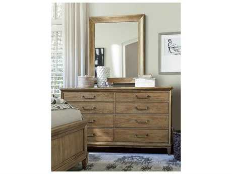 Universal Furniture Moderne Muse Bisque Double Dresser & Mirror Set