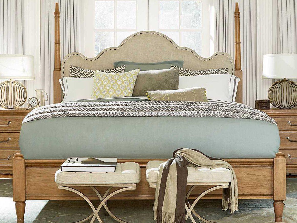 universal furniture moderne muse bisque poster bed bedroom set uf414280bset2. Black Bedroom Furniture Sets. Home Design Ideas