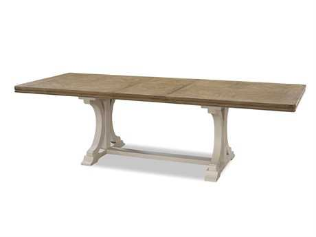 Universal Furniture Moderne Muse 108''L x 42''W Rectangular Bisque & Canvas Dining Table