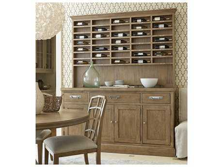 Universal Furniture Moderne Muse 75''L x 21''W Bisque Sideboard with Sommelier Hutch