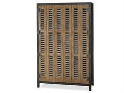 Moderne Muse 49''L x 19''W Cobalt & Bisque Door Libations Locker Wine Bar