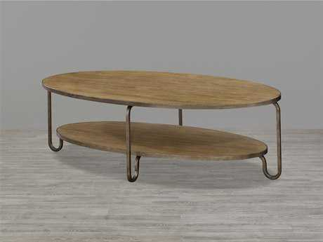 Universal Furniture Moderne Muse 60''L x 28''W Oval Bisque Cocktail Table