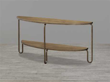Universal Furniture Moderne Muse 60''L x 16''W Demilune Bisque Console Table