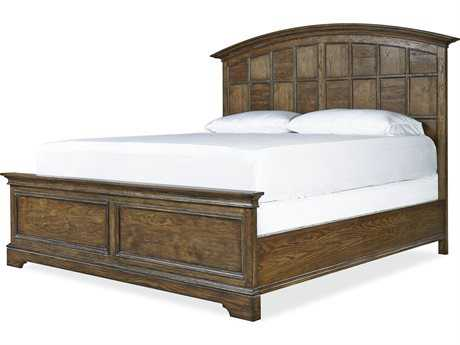 Universal Furniture New Bohemian Oak Queen Size Panel Bed
