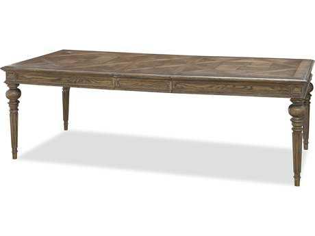 Universal Furniture New Bohemian 96''L x 44''W Rectangular Bohemian Oak Dining Table