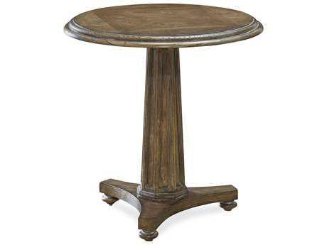 Universal Furniture New Bohemian 26'' Round Bohemian Oak Pedestal Table