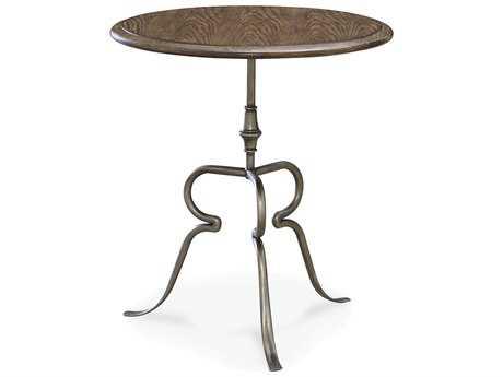 Universal Furniture New Bohemian 24'' Round Bohemian Oak Pedestal Table