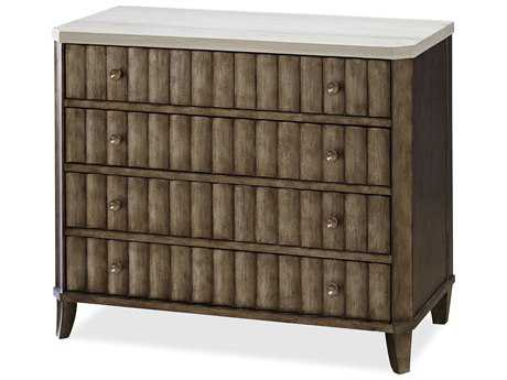 Universal Furniture California 38''L x 18''W Champagne Accent Nightstand
