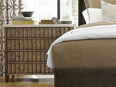 Universal Furniture California 38''L x 18''W Champagne Accent Nightstand UF475360