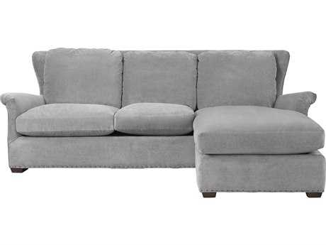 Universal Furniture Curated Grey Cloud Haven Sofa Chaise with Ottoman