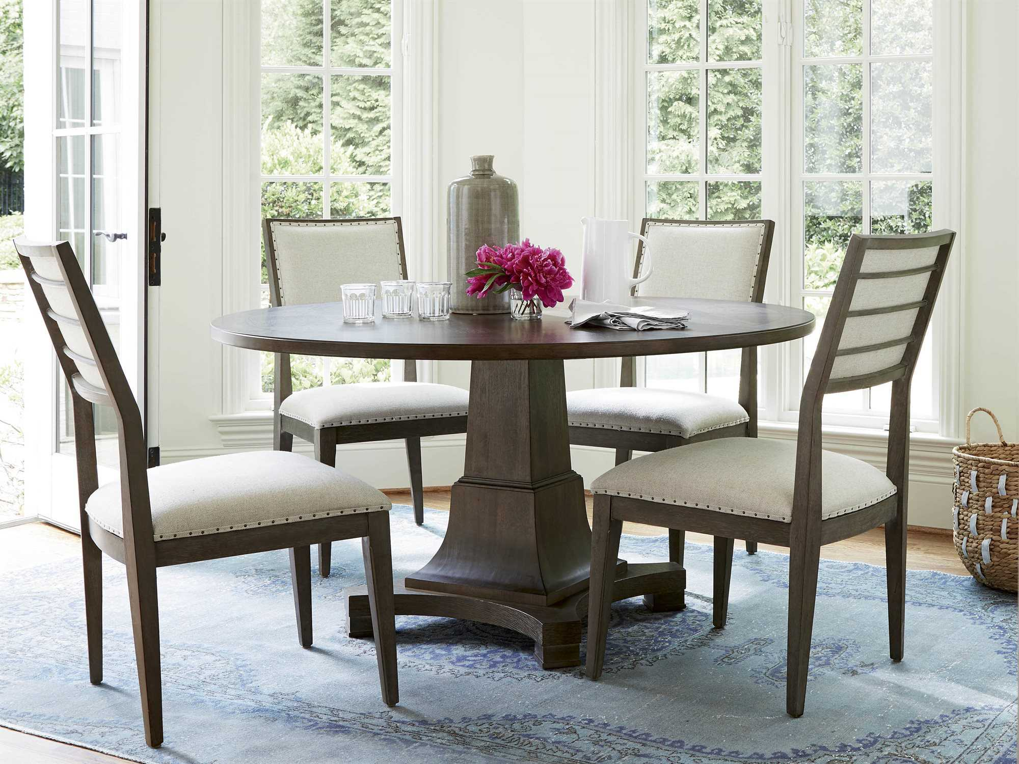 universal furniture playlist 58 39 39 round brown eyed girl dining table uf507657. Black Bedroom Furniture Sets. Home Design Ideas